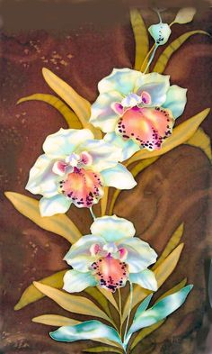 orchids on silk by julie jennings at Coroflot.com
