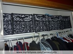 Look at my new organized hall closet with my Thirty-One Collapsible Cubes.  Everyone now has a place for their hats and gloves. http://www.mythirtyone.com/CarmenCurts/