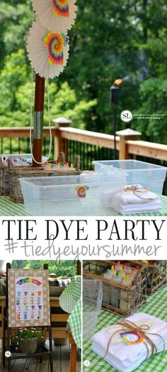 DIY Tie Dye Party