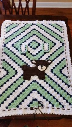 Baby Bear Car Seat Cover 30 X 35, baby diamond c2c  six inch squares