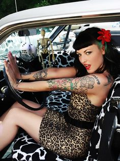 Pin up girl, Rockabilly and tattoos