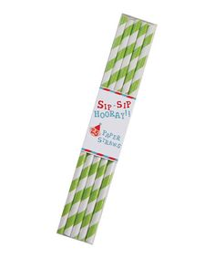 Take a look at this Lime Stripe Paper Straw - Set of 50 by Party Partners on #zulily today!