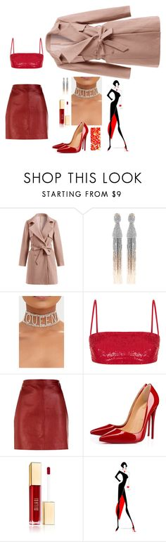 """LAPA 03:30"" by warllace ❤ liked on Polyvore featuring Oscar de la Renta, Rasario, Sandro, Christian Louboutin and NOVICA"