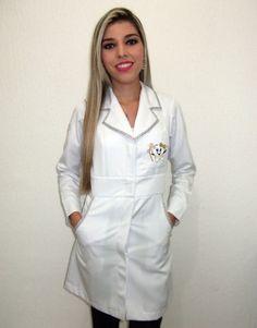 Jaleco Feminino Acinturado Com Gorgurão De Oncinha - 028GORDENT - Ateliê do Jaleco | 10% OFF no depósito