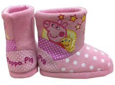 Peppa Pig - Slipper Boots. Keep your kids feet warm this winter with these gorgeous pink polka dot Peppa Pig Slipper Boots. $16.99