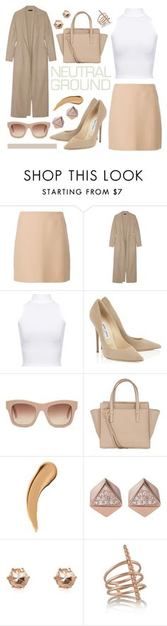 """""""nude"""" by nnm-s ❤ liked on Polyvore featuring Theory, The Row, WearAll, STELLA McCARTNEY, Salvatore Ferragamo, FOSSIL, River Island, Arme De L'Amour, beige and neutral"""