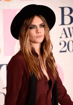 Cara Delevingne attends the BRIT Awards 2015 at The O2 Arena on February 25, 2015 in London, England.