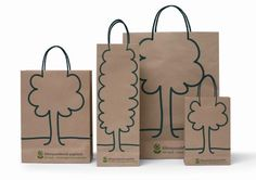 Hungarian Bank using recycled paper bags
