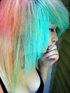 eh not a fan of the rainbow hair but I suppose it is kinda cute