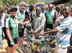 Friday, February 24, 2012.   Globalbike partners begin journey of 'transformative tourism' by Andrew Doughman. (This photo is from a previous trip to Tanzania. They were still enroute at this point.)
