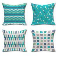 Patrones geométricos cojines moderno simple de algodón almohada cojín decoración del hogar 45 x 45 cm