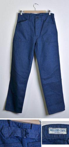 HELLERS CAFE | 1920's WW I U.S. Army Style Work Pants US army-style denim underwear indigo