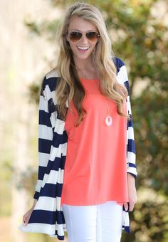 PIKO:Just About Anywhere Short Sleeve Tunic-Coral - $30.00
