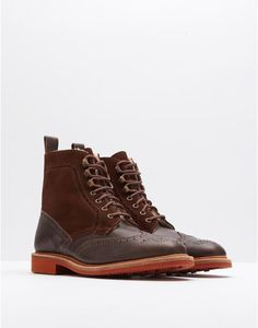 Joules Winterburn Shearling-Lined Brogue Boots Mens Shoes Boots, Men's Shoes, Shoe Boots, Joules Uk, Man And Dog, Dog Walking, Stylish Men, Brogues, High Top Sneakers