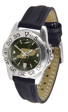 Purdue Boilermakers Sport AnoChrome Ladies Watch with Leather Band: This handsome,… #SportingGoods #SportsJerseys #SportsEquipment