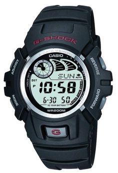 Buy the Casio Men's G Shock Watch at eBags - A bold and sporty look makes this casual watch perfect for day to day use. The Casio Men's G Shock Casio G-shock, Casio Watch, Casio G Shock Watches, Sport Watches, Watches For Men, Men's Watches, Black Watches, Watches Online, Protrek