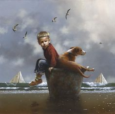 Jimmy Lawlor, limited print, 'The Same Boat'