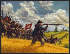 """""""Charge of the Tarheels"""". The 26th NC infantry arrives in force at Gettysburg, July, 1st 1863."""