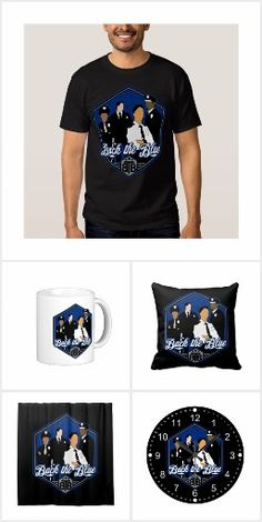 Back The Blue Support Police Officers T-shirts and Gifts! Groupd of police officers with Back the Blue police motto! http://www.zazzle.com/collections/back_the_blue_police_officers-119841668518590114?rf=238995336435856180&tc=pn16