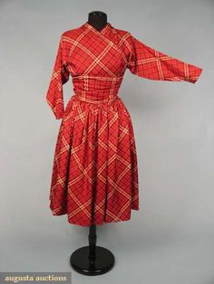 Claire Mccardell Silk Afternoon Dress, 1950s, Augusta Auctions, April 2009 Vintage Fashion and Textile Auction, Lot 239