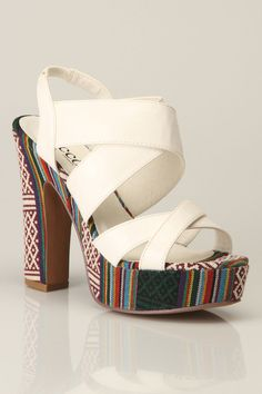 Mesha Sandals In White - Beyond the Rack