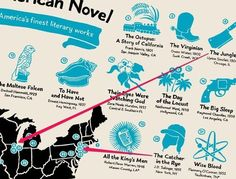 This map shows where 42 of the greatest American novels took place | Geography Education | Scoop.it