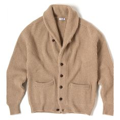 Iconic Four Ply Cashmere Shawl Collar Cardigan - Knitwear - Drakes London