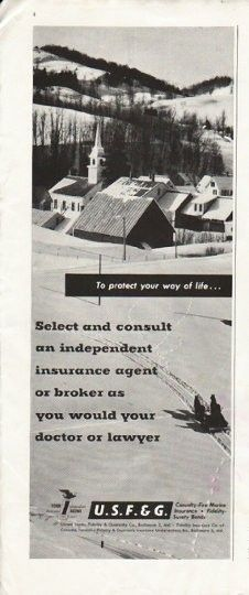1958 United States Fidelity Guaranty Co Vintage Ad Your Way Of