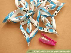 Image titled Make a 3D Paper Snowflake Step 11
