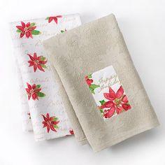 St. Nicholas Square Happy Holidays 2-pk. Kitchen Towels