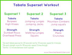 Tabata Superset Workout | The Wheatless Kitchen