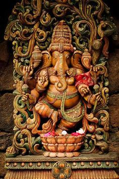 """""""Lord Ganesh, the Indian Conception: Very well done sculpture of Lord Ganesh. Would not be used in a temple for worship but in homes, perhaps. This representation respects the Divinity associated with Lord Ganesh. Jai Ganesh, Ganesh Idol, Ganesh Statue, Shree Ganesh, Ganesha Art, Ganesha Pictures, Ganesh Images, Om Gam Ganapataye Namaha, Lord Ganesha Paintings"""