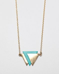 Inverted Triangle Necklace / Garnett Jewelry