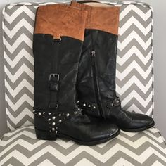 Sam Edelman Stud Boots In great condition and have an edgy feel with a steel toe and stud details. Worn only a handful of times and in excellent condition size 7.5 Sam Edelman Shoes Combat & Moto Boots