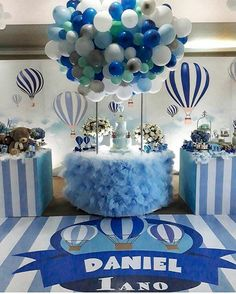 Baby Shower Balloon Decorations For Boy. Flying Teddy Bear With Balloons Baby Shower Wall Decor . Baby Shower Balloon Decorations, Baby Shower Table Centerpieces, Baby Shower Balloons, Birthday Balloons, Birthday Party Decorations, Birthday Parties, Balloon Ideas, Birthday Gifts, Baby Shower Cakes