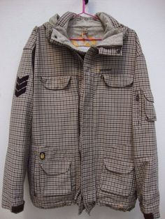 Special Blend Men s Snowboard Jacket Large Checkered Pattern