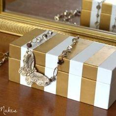 Metallic Meets Lacquer Boxes DIY {Decorative Boxes}
