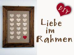 DIY – Liebe im Rahmen! Herzen aus Zeitungspapier mit Anleitung http://barfussimnovember.com