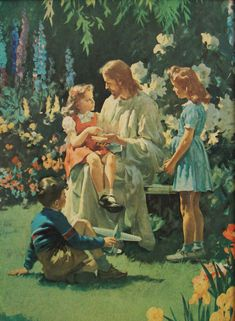 page for jesus with children art and photography 634 total images Lds Art, Bible Art, Jesus Art, God Jesus, Harry Anderson, Image Jesus, Pictures Of Christ, Jesus Painting, Sacred Art