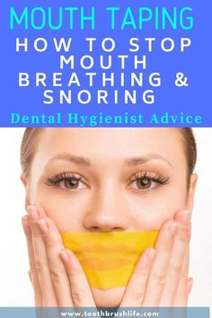 Mouth taping guide. How to stop breathing through your mouth. Stop snoring. Easily tape your mouth shut with this special tape and it can help you stop mouth breathing which has many benefits. #dental #mouthbreather #mouthbreathing #snoring #stopsnoring #toothrbrushlife #dentalhygienist #oralhealth Oral Health, Health Tips, Causes Of Bad Breath, Mouth Breather, Receding Gums, Dental Problems, Medical Help, Dental Hygienist, Easy Cooking
