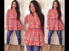 LATTEST FROCK KURTIS WITH JEANS FOR COLLAGE GIRLS (Must Watch)
