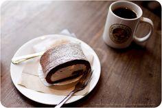 chocolate cream cake roll + espresso