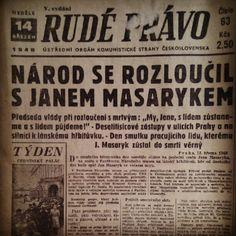 Rude pravo 14.3.1948, Jan Masaryk died