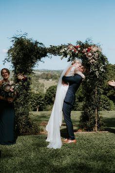 REAL WEDDING / Van Middleton Photography / Rustic Theme / Byron Bay Hinterland / Floral Arch / Rhonda Hemmingway Bridal Dress / Samantha Wills Jewelry
