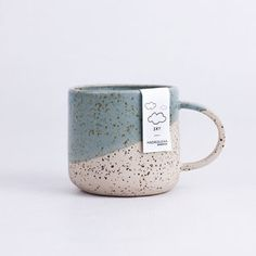 Mug - Sky You can feel the nature in yours hands Measures: high, diameter Capacity: Material: Stoneware Glaze: Matte Dishwasher, microwave and oven safe Process: These pieces are hand-thrown on the throwing wheel. The process can not accurately Ceramic Cafe, Ceramic Mugs, Stoneware, Ceramic Bowls, Pottery Mugs, Ceramic Pottery, Slab Pottery, Thrown Pottery, Crackpot Café