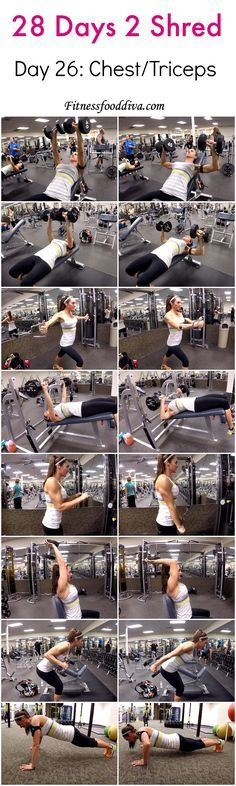 Day 26: chest/triceps workout/video