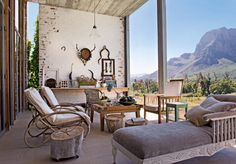 House in Stellenbosch, South Africa as featured in Marie Claire Maison Fall Home Decor, Autumn Home, Outside Living, Outdoor Living, Cubes, Outdoor Spaces, Outdoor Decor, Outdoor Seating, Pose