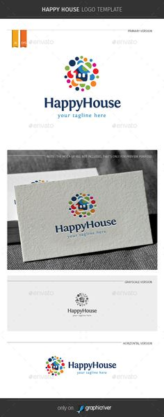 Happy House Logo Template Vector EPS, AI. Download here: http://graphicriver.net/item/happy-house-logo-template/11334269?ref=ksioks