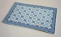 Dollhouse miniature needlepoint carpet PDF pattern T8