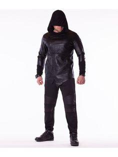 Trening pentru barbati ADREXX - negru Leather Jacket, Interior Design, Jackets, Fashion, Studded Leather Jacket, Nest Design, Down Jackets, Moda, Leather Jackets